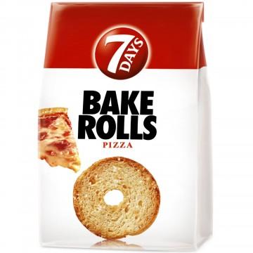 Rondele de paine cu pizza...