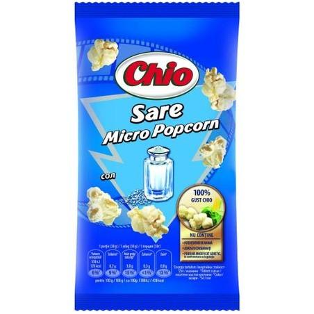 Popcorn cu sare pentru cuptorul cu microunde Chio, 100g
