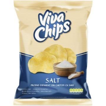 Chips cu sare Viva, 100g