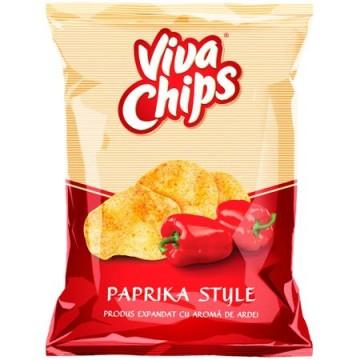 Chips cu paprika Viva, 100g