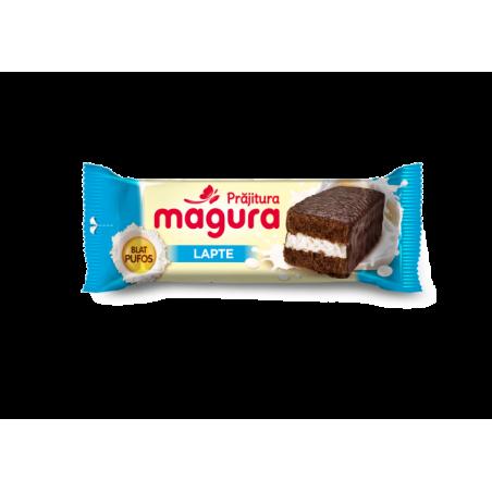 Prajitura cu crema de rom si glazura de cacao si lapte Magura, 35g