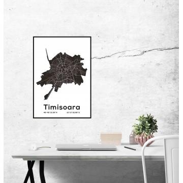 Poster harta Timisoara contur