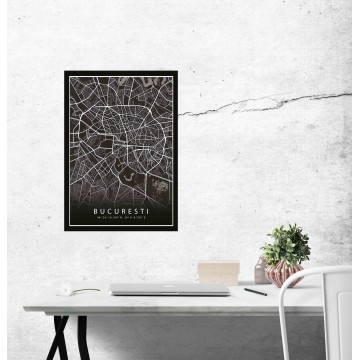 Poster harta Bucuresti complet