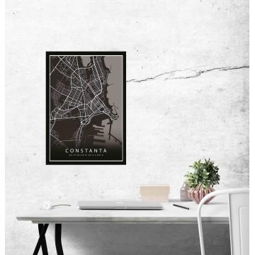 Poster harta Constanta complet