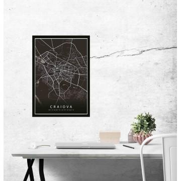 Poster harta Craiova complet