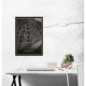 Poster harta Galati complet